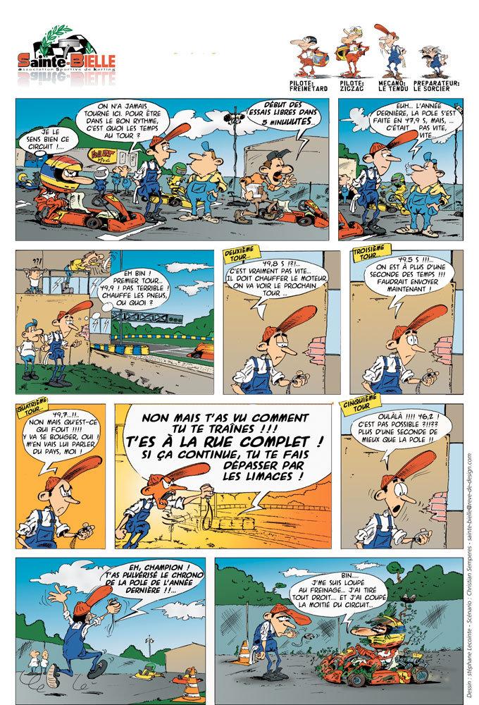 Bande dessinée karting