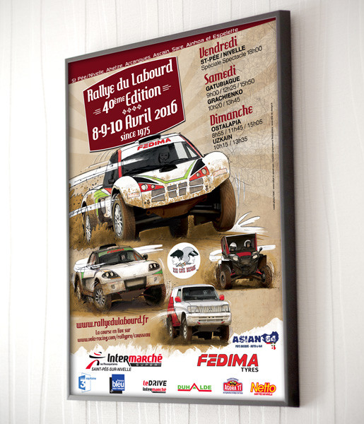 affiche-rallye2016- communication visuelle